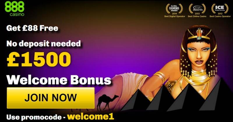 888casino welcome $1,500 bonus promo