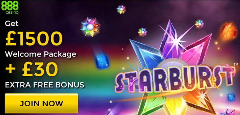 sturburst promo code 888casino