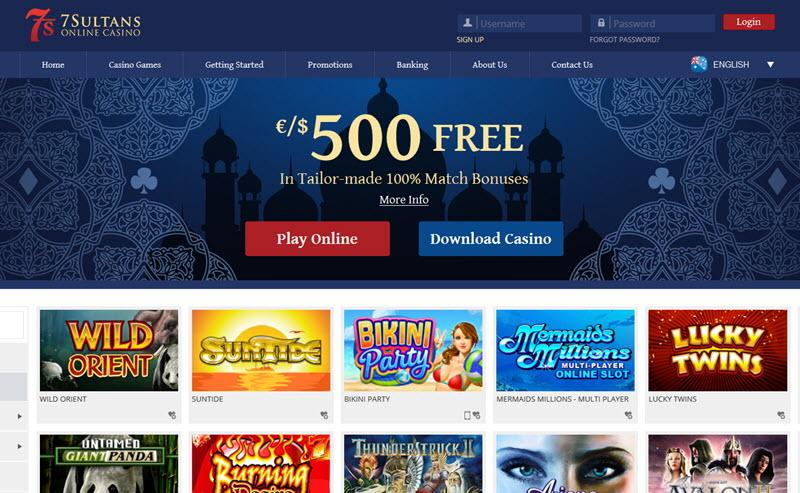 7 Sultans Casino Free Spins & Bonus Promo Code June