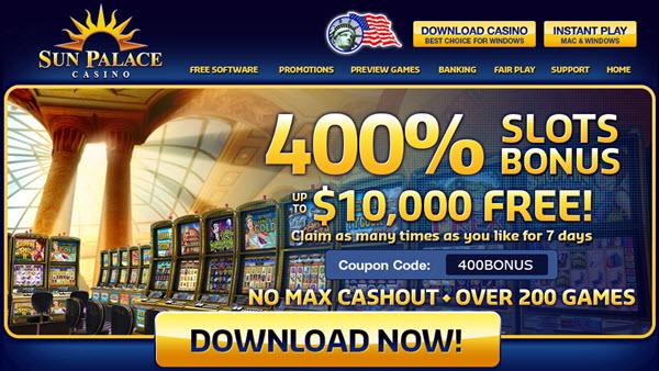 sun palace casino special bonus promotions