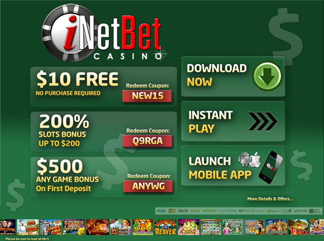 Inetbet casino codes commerce casino directions